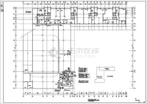 综合楼电力电气设计cad平立面施工图-图2