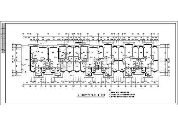 某地区一套多层住宅建筑图-图1