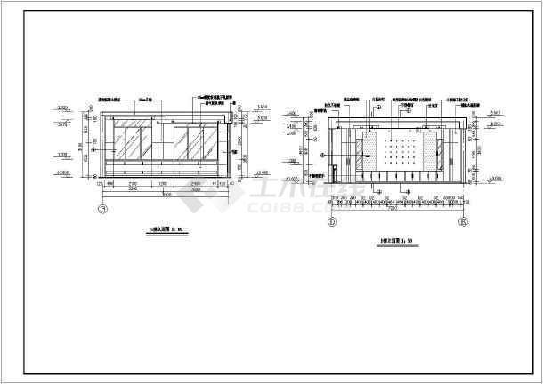 总经理办公室立面图_[办公室装修]总经理办公室装修cad平立面设计施工图 - 土木在线
