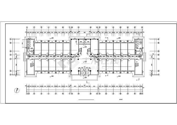 点击查看某园林局综合办公楼cad建筑施工图第1张大图