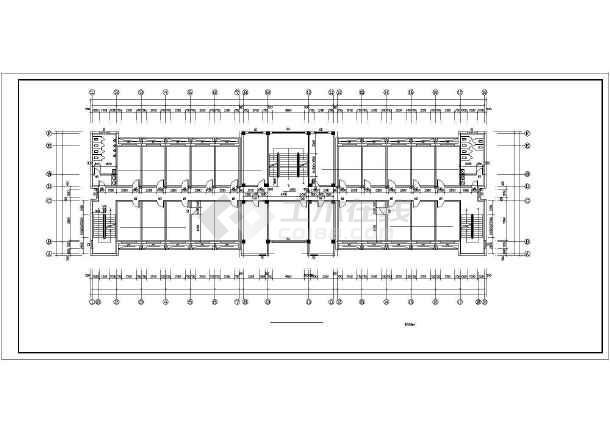 某园林局综合办公楼cad建筑施工图-图1