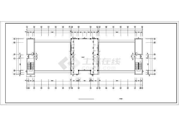 某园林局综合办公楼cad建筑施工图-图3