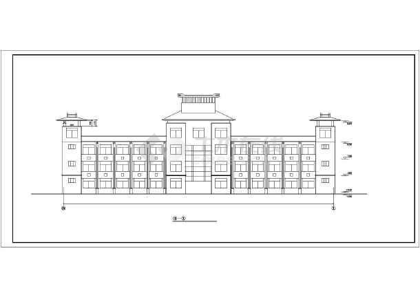 某园林局综合办公楼cad建筑施工图-图2