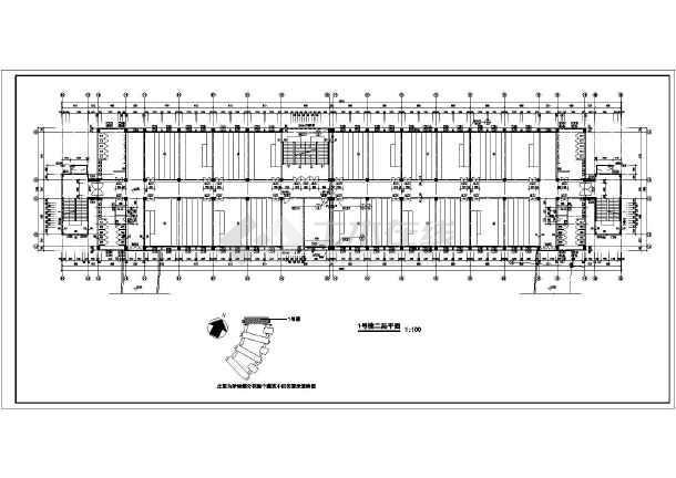 某技术学院教学楼施工建筑CAD设计图-图2