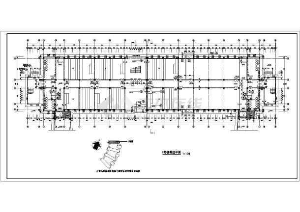 某技术学院教学楼施工建筑CAD设计图-图3