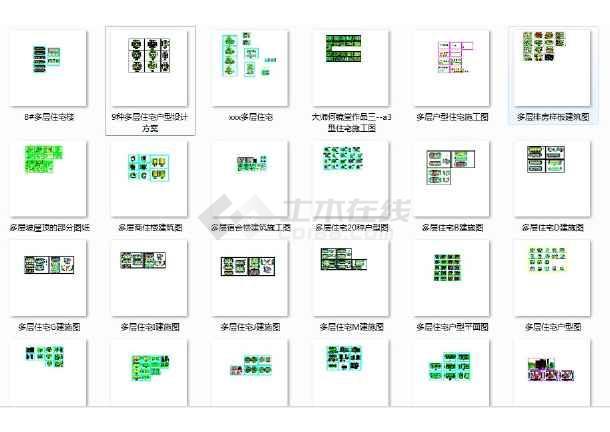 59套、多层住宅楼建筑cad图纸-图1