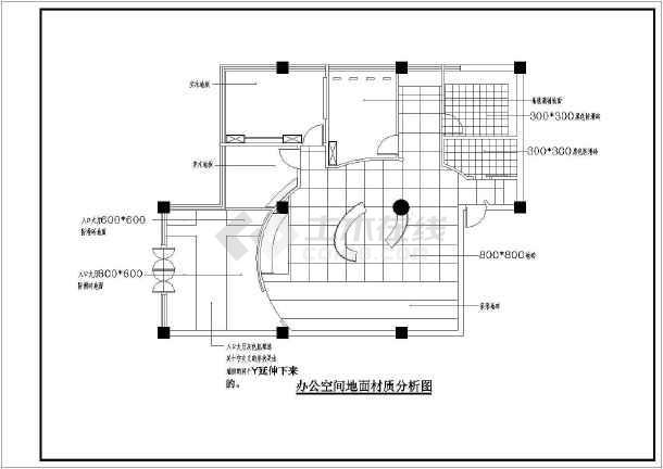 点击查看北京某广告公司室内设计装修cad施工图第1张大图