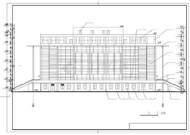 某师范学院建筑设计图-图1