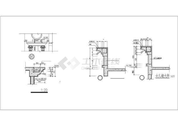 某学校食堂全套建筑施工CAD设计图-图3