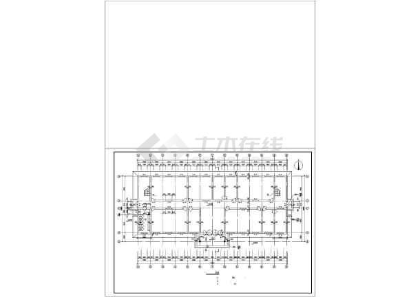 某学校综合楼施工建筑CAD设计图纸-图3