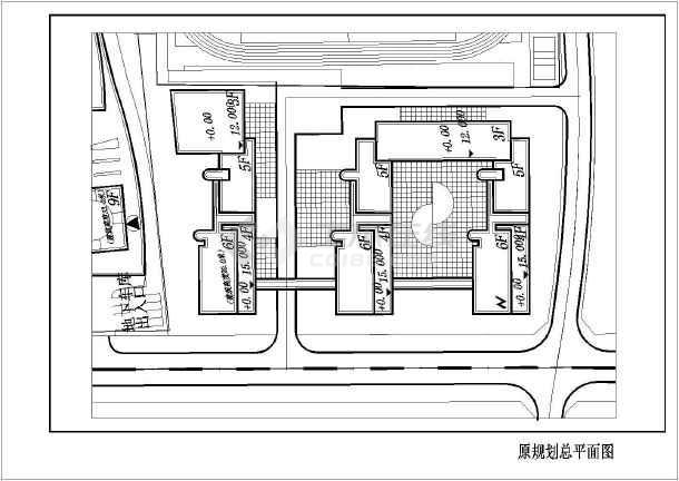 某学校建筑方案设计图-图1