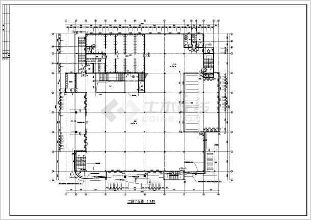 某校食堂全套建施cad设计图-图3