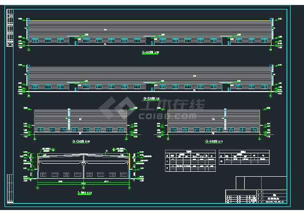 某地双跨2X27米门式钢架重型厂房建筑结构图-图3
