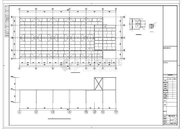 某房地产售楼部钢结构图纸-图3