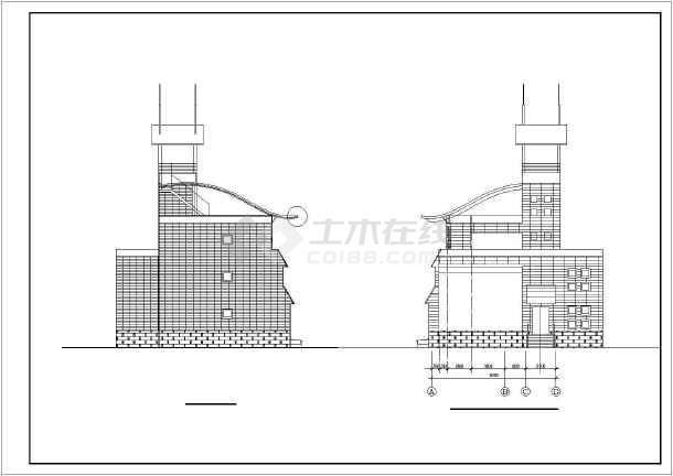 某地区别墅建筑设计图-图2