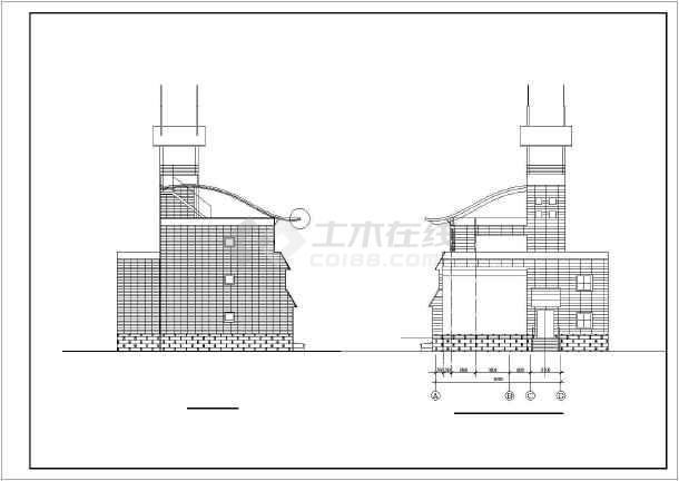 某地区别墅建筑设计图-图3