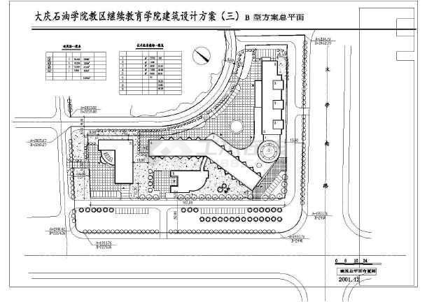 某大连石油学院设计建筑CAD方案图纸-图1