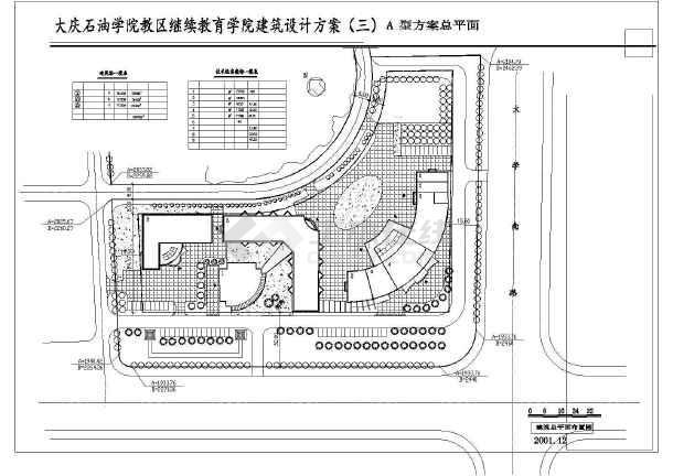 某大连石油学院设计建筑CAD方案图纸-图2