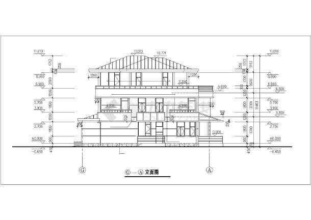 某经典别墅建筑设计图-图3