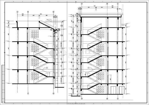 某校区综合楼建筑cad设计图-图1