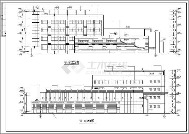 某高校行政楼建筑CAD设计施工图-图1