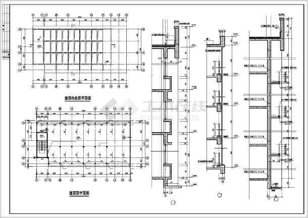 某高校行政楼建筑CAD设计施工图-图2