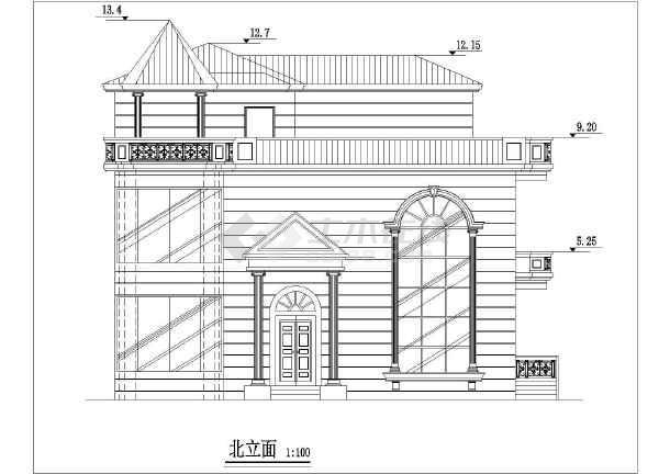 经典别墅建筑设计图-图3
