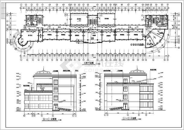 某学校建筑施工CAD设计图纸-图2