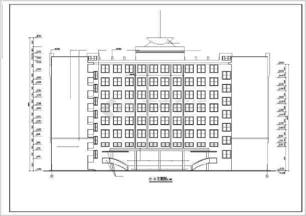 某市学校综合楼全套建筑CAD施工设计图-图1