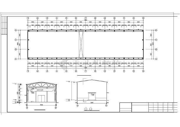 某排架厂房建筑结构图纸-图2