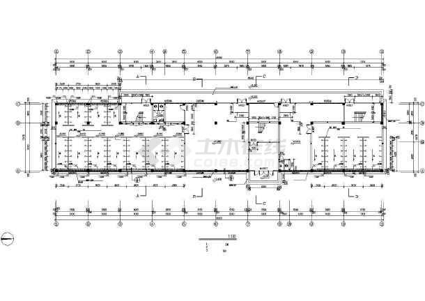 某学校浴室建筑施工CAD设计图-图3