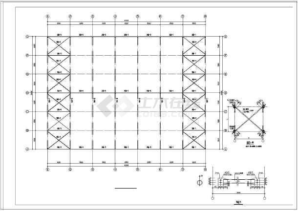 某钢结构食堂建筑结构施工图纸-图3