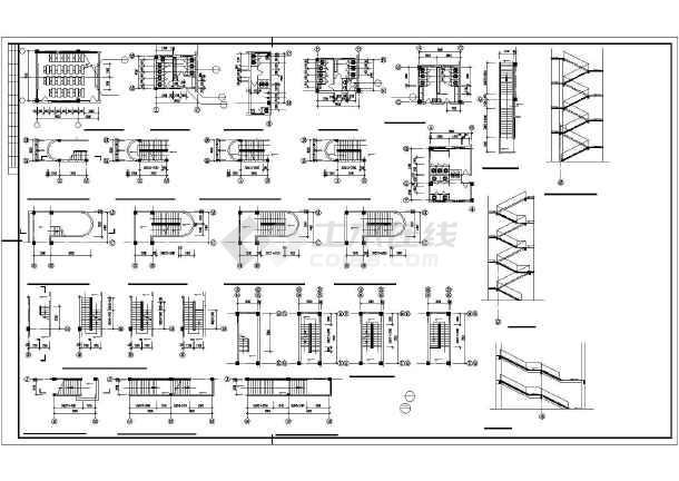 某学校综合楼平面建筑CAD设计图纸-图3