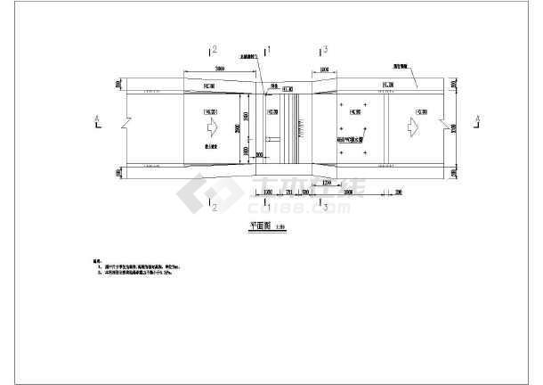 水利工程拦河坝结构图-图一