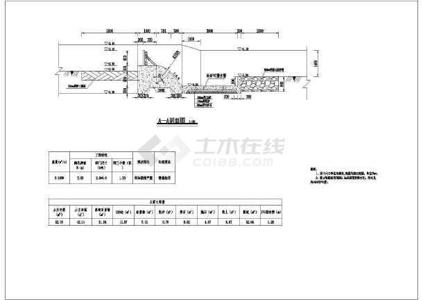 水利工程拦河坝结构图-图二