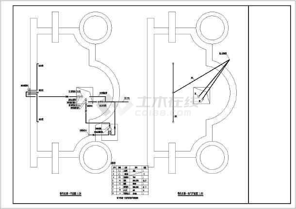 某小区水景电气CAD平面图-图1