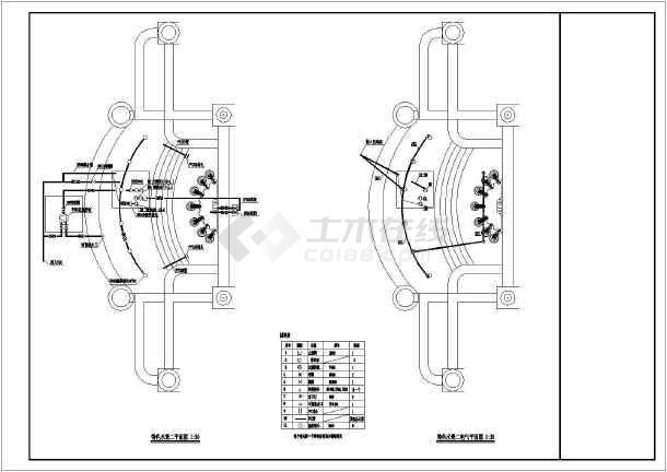 某小区水景电气CAD平面图-图3