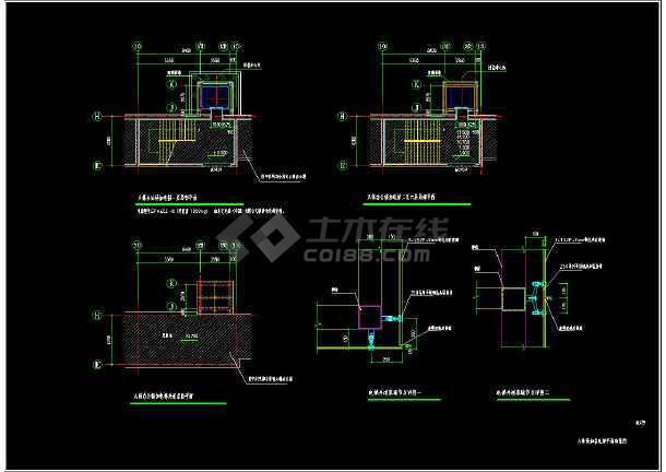 某局旧大楼改造新增电梯-完整建筑结构施工图-图2