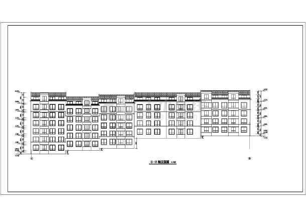 某小区多层转角楼住宅楼CAD建筑设计图-图1