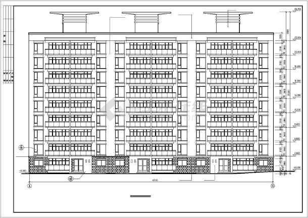 某市永宏佳园小高层住宅楼建筑CAD全套施工图-图1