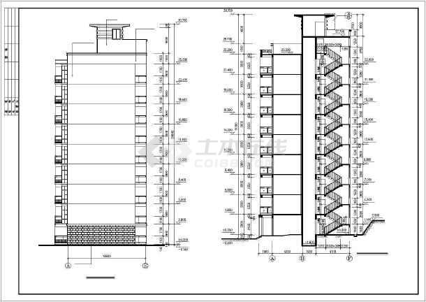 某市永宏佳园小高层住宅楼建筑CAD全套施工图-图2