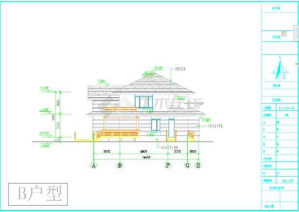 最新别墅图纸B、C户型两套-图1