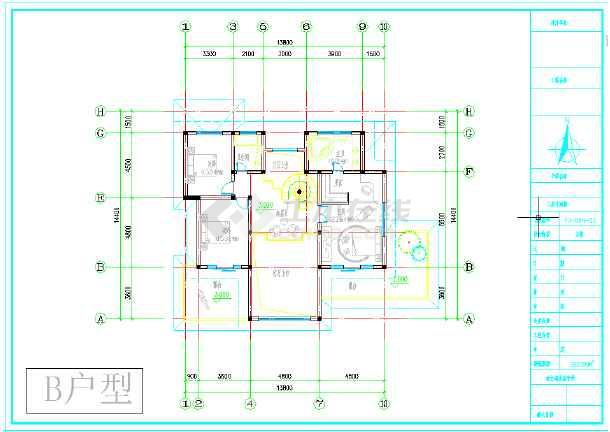 最新别墅图纸B、C户型两套-图2