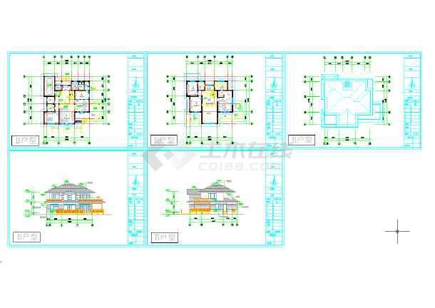 最新别墅图纸B、C户型两套-图3