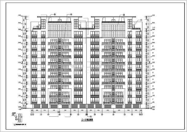 某市某小区高层住宅楼CAD建筑施工图纸-图1