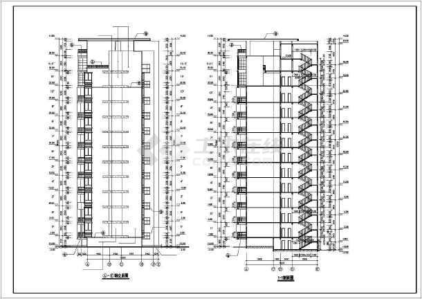 某市某小区高层住宅楼CAD建筑施工图纸-图2