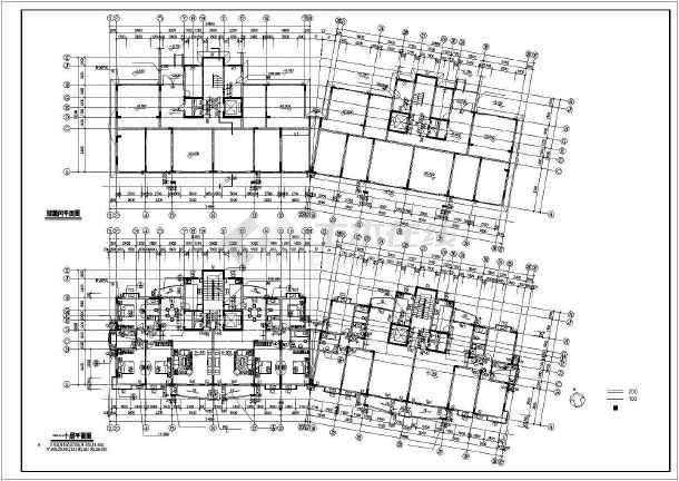 某市某小区高层住宅楼CAD建筑施工图纸-图3