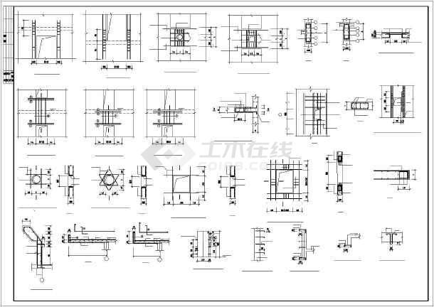 剪力墙结构小高层住宅楼建筑工程cad施工图-图2