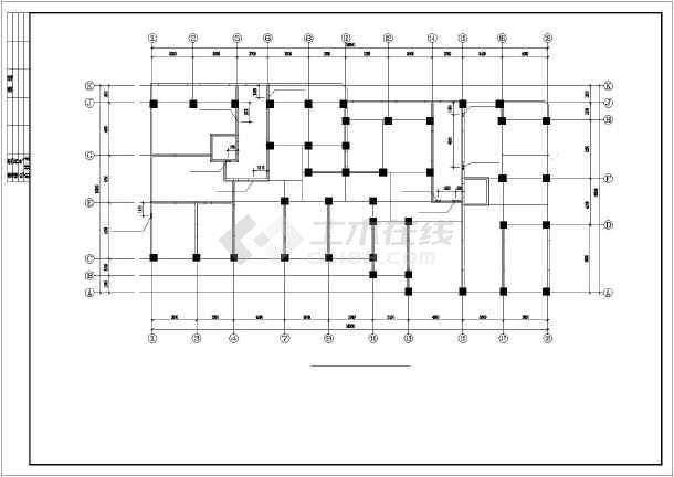 剪力墙结构小高层住宅楼建筑工程cad施工图-图3