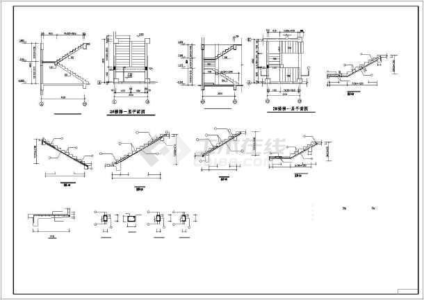 钢筋混凝土框剪结构设计高层住宅楼cad施工图-图2